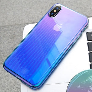 Baseus Luxury Plating TPU Case For iPhone XR Thin Gradient Colorful Soft Silicone Case For iPhone Xs Xs Max XR 2018 Phone Cover
