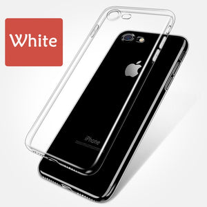 Clear Silicon Soft TPU Case For 7 7Plus 8 8Plus X XS MAX XR Transparent Phone Case For iPhone 5 5s SE 6 6s 6Plus 6sPlus
