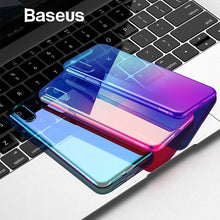 Load image into Gallery viewer, Baseus Luxury Plating TPU Case For iPhone XR Thin Gradient Colorful Soft Silicone Case For iPhone Xs Xs Max XR 2018 Phone Cover
