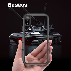 Baseus For iPhone XR Case Durable Silicone PC Hybrid Armor Case For iPhonoe XR 6.1 2018 Full Protective Back Phone Cover Coque