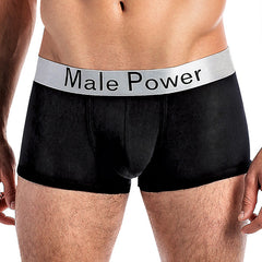 MALE POWER - MODAL BASICS - LOW RISE ENHANCER SHORT - 150227BLK