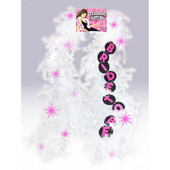 BRIDE-TO-BE FLASHING FEATHER BOA