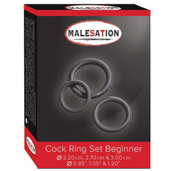 MALESATION COCK RING SET BEGINNER