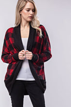 Load image into Gallery viewer, Long Sleeve Buffalo Plaid Cardigan