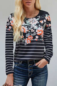 Floral and stripes