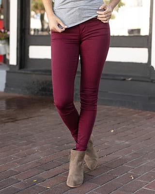 Wine Colored Jeggings