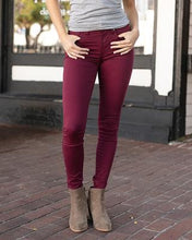Load image into Gallery viewer, Wine Colored Jeggings