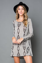 Load image into Gallery viewer, Aztec Print Swing Dress - Curvy