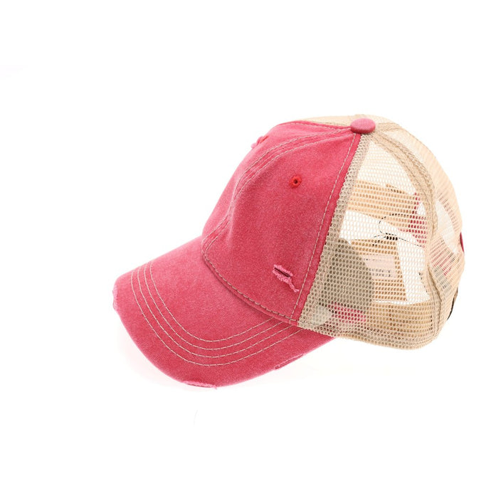 Washed Mesh Back Classic CC Ball Cap