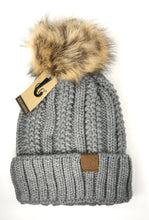 Load image into Gallery viewer, Fur Pom CC Beanie