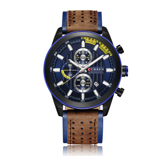 Curren Fashion Casual Business Men High Quality Watch Quartz Analog Sport Wrist Watch - Mizta Defiant