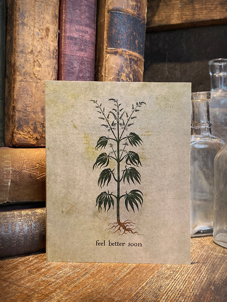 Medieval Cannabis Note Card
