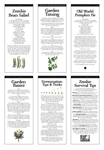 Zombie Apocalypse Survival Seeds