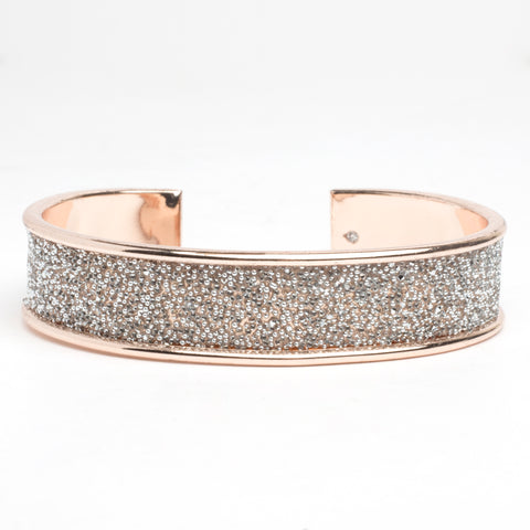 Rose Gold Crystal Cuff