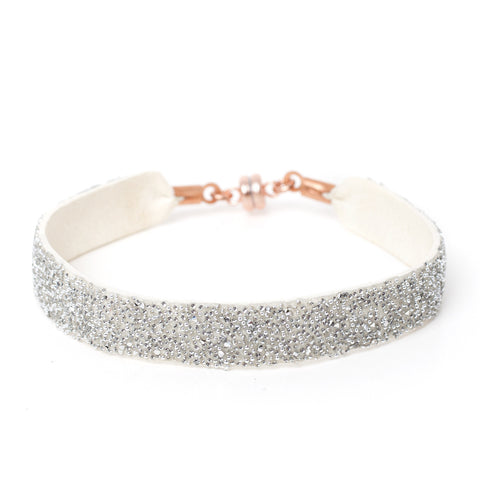 Bangle White Crystal