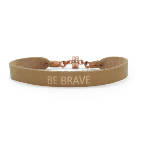 "Single Nude ""Be Brave"" Bracelet"
