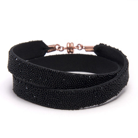 Black Double Bangle