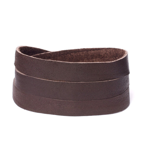 Triple Bangle Chocolate Leather