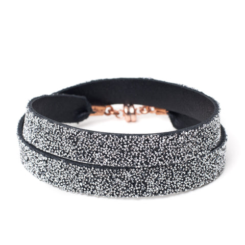 Double Bangle Black Crystal