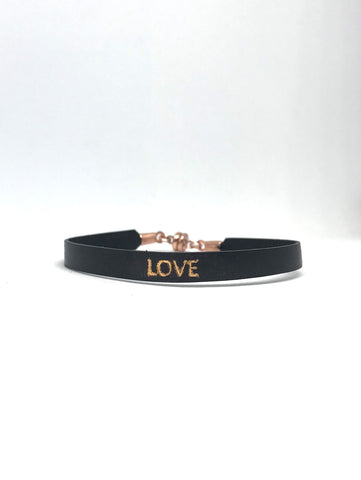 "Single Black ""Love"" Bracelet"