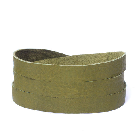 Triple Bangle Olive Leather