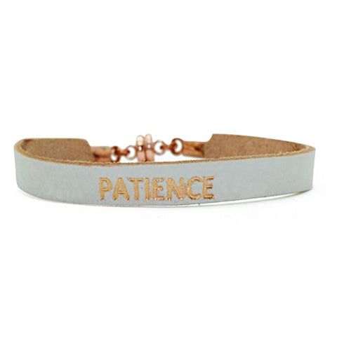 "Single White ""Patience"" Bracelet"