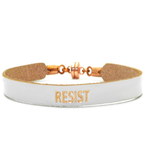 "Single White ""Resist"" Bracelet"