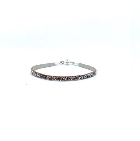Single Thin Silver Wrap ~ Silver Clasp