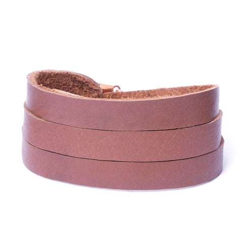 Triple Bangle Saddle Leather