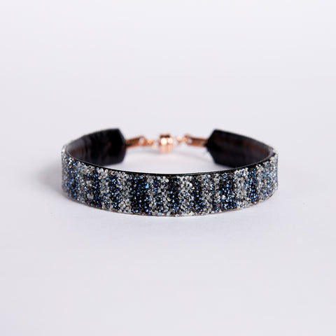 Bangle Cotton Stripe Black Moonlight