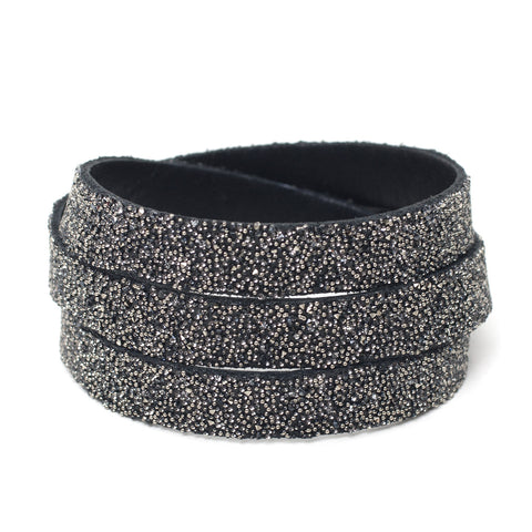 Triple Bangle Black Metallic