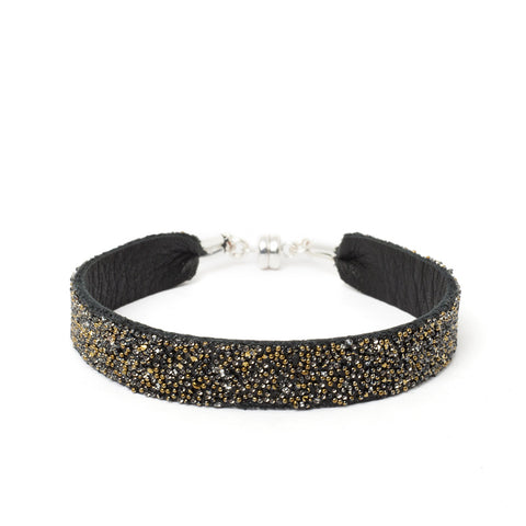 Bangle Black Dorado ~ Silver Clasp