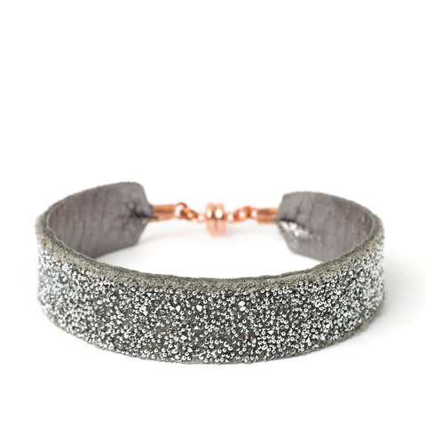 Bangle Silver Crystal