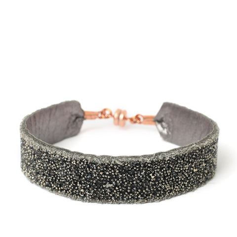 Bangle Silver Black Metallic