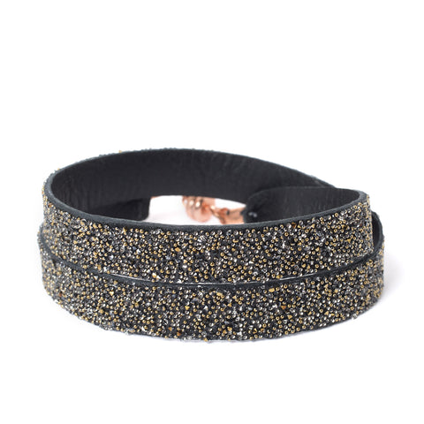 Double Bangle Black Dorado