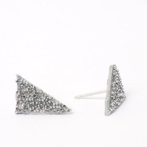 White Crystal Triangle Studs