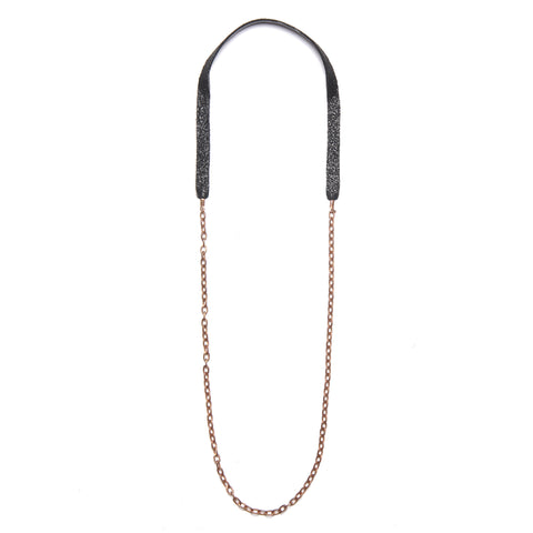 Black Single Chain Necklace