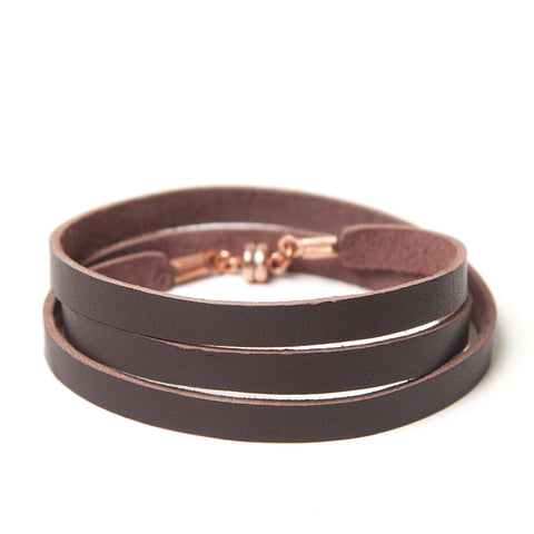 Chocolate Leather Wrap