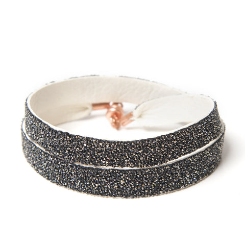Double Bangle White Metallic