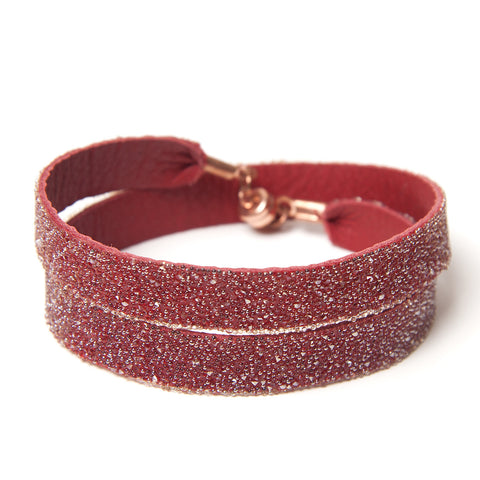 Double Bangle Red Gold