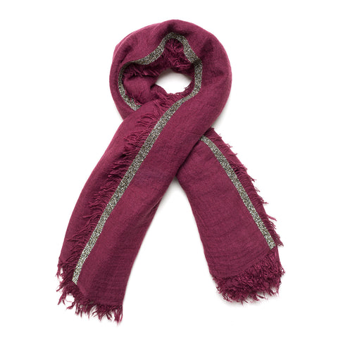 Red Bordeaux Metallic Scarf