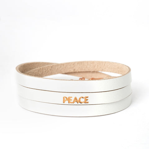 "Triple White ""PEACE"" Bracelet"
