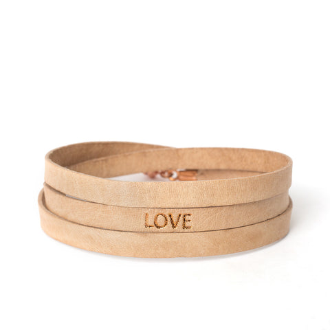 "Triple Nude ""LOVE"" Bracelet"