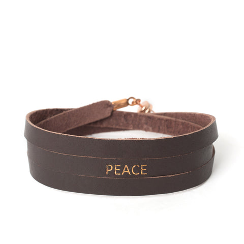 "Triple Chocolate ""PEACE"" Bracelet"