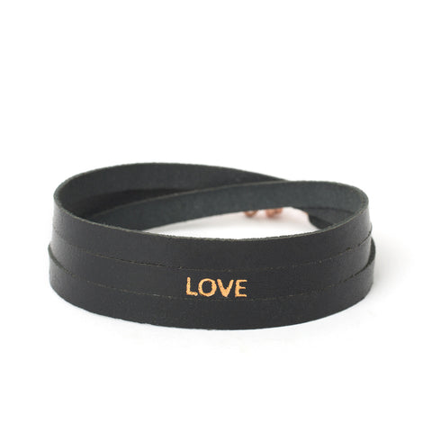 "Triple Black ""LOVE"" Bracelet"