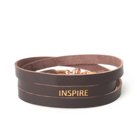 "Triple Chocolate ""INSPIRE"" Bracelet"