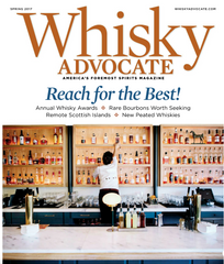Walnut Studiolo Whiskey Case Featured in Whisky Advocate Magazine Spring 2017