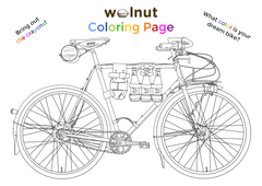 Free Bicycle Coloring Page from Walnut Studiolo