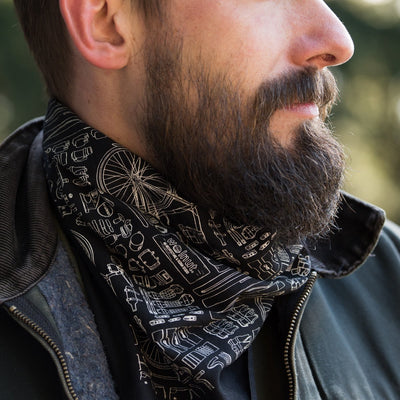 Walnut Studiolo AS-IS AS-IS SALE Bicycle Print Bandana