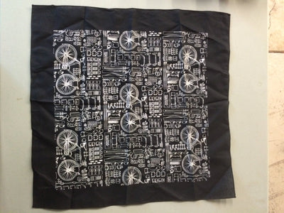 "Walnut Studiolo AS-IS AS-IS SALE Bicycle Print Bandana Black / Ink ""echo"""